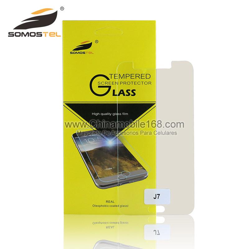 a9d69b1fd51 Protector de pantalla de la película de vidrio templado para Samsung Galaxy  J7-Vidrio Templado Film-Protector de Pantalla-Somostel - Mayorista de  Accesorios ...