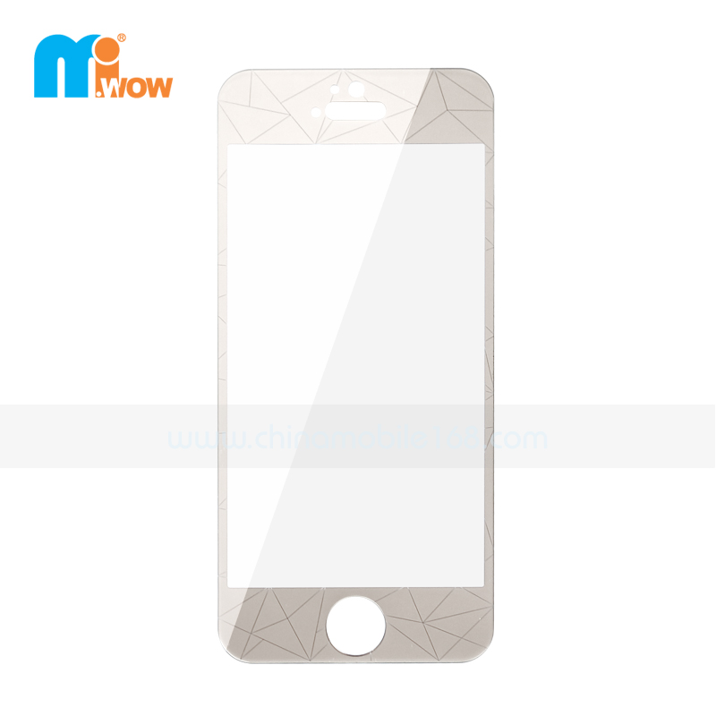 buy popular 0c389 3cb5d Transparent 3D Diamond Rhomb Design Tempered Glass Screen Protector ...